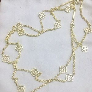 Excellent condition gold Devalyn station necklace